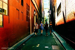 Alley Walk (The0dora Photography) Tags: people walking lomo streetphotography melbourne crossprocessing sigma30mm28 theodoraphotography nex6