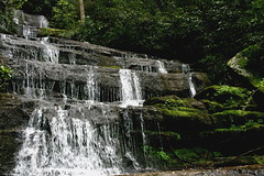 the falls (precious maybe) Tags: hot water rain fun drive waterfall nc asheville country curves sunny marshall springs hendersonville fields winding nina mountians saulda lunchonabridgeduringaflood jandbtrip