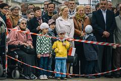 Choke (jotemel) Tags: old people woman colors kids standing vintage stand wake sitting united wheelchair patriotic someone polakowportetwlasny