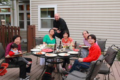 Family Vacation at Seattle (dennoit) Tags: seattle family grandma evan vacation dog baby mom washington uncle grandpa aunt barbeque