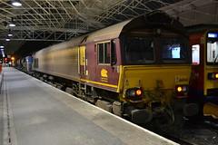 DB Schenker 66046 (Will Swain) Tags: uk travel england west station coast october cheshire britain main north transport rail db 66 class line crewe network nr 23rd 2014 schenker mainline rhtt 66046