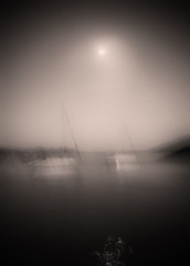 Night Boats (shaun-walby photography) Tags: sailing yacht sea ocean monochrome blackandwhite icm pictorial fineart boat greek greece ionian photography oceanphotography sailingphotography yachting sail waves wind tide moon moonlite