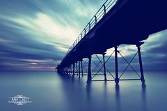 The Blue Hour (AndyCrutt) Tags: sea sky seascape saltburn seaside pier blue silhouette nature nd110 art andycrutt le england middlesbrough fuji fujifilm