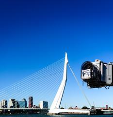 Erasmusbrug met een NYC tintje (Jaap~Verbeek) Tags: cruiseterminal erasmusbrug nieuwemaas rotterdam wilhelminapier scheepvaart zuidholland netherlands nl port haven river bridge