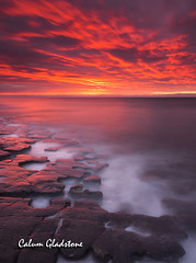 Serenity (Calum Gladstone) Tags: northumberland low newton jigsaw rocks sunrise seascape longexposure epic fire leefilters canon6d
