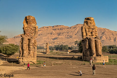 Colossi-of-Memnon (gambat) Tags: egypt egyptianarchitecture eos70d egyptiangods nile architecture ancientarchitecture ancientegypt colossiofmemnon giantstatues amenhotep luxor niledelta earlymorning openair