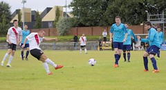 Mark Burbidge is next to threaten the Perthshire goal (Stevie Doogan) Tags: clydebank glasgow perthshire exsel group sectional league cup wednesday 10th august 2016 holm park
