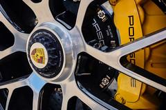 Porsche wheel detail (PaulHoo) Tags: porsche 911 car german color colour chateau reynard france mont ventoux 2016 sportscar fujifilm x70 wheel yellow detail chrome