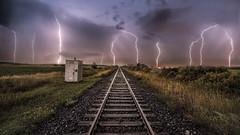 Night energy (Insight Imaging: John A Ryan Photography) Tags: longexposure canada ontario milton night lightning lightningstorm