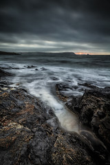 Sea and Rocks (aj_nicolson) Tags: appicoftheweek portscatho cornwall sea water rocks shoreline coast coastline clouds blue dawn sunrise morninglight landscape seascape headland