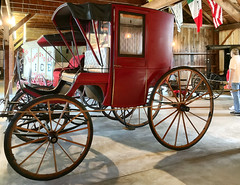 Red brougham (SteveMather) Tags: closed carriage red 2016 mahoning canfield fair youngstown fairgrounds oh ohio county horse drawn westernreservevillage
