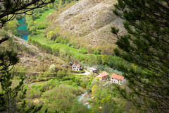 View from Gradina over Krka and Una rivers (ViaDinarica) Tags: viadinarica greentrail bosniaandherzegovina nature connectingnaturally morethanjustatrail people places mountains green village freedom beauty