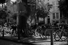 Bike at canal in Amsterdam 3 (Amselchen) Tags: mono bw lightandshadow light shadow amsterdam canal fuji fujinon fujifilm fujifilmxseries fujifilmx xt10 xf35mmf14r bokeh dof depthoffield
