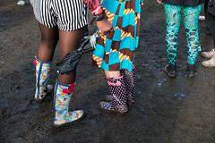 (jaumescar) Tags: wear clothes rain women boots wellies wellington london uk bad weather color colourful catchy dress foot feet umbrella stripes pattern legs three body fashion