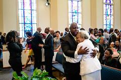 Spring Into Praise-60 (Atlanta Berean Church - photos.atlantaberean.com) Tags: greeting hug man smile welcome woman
