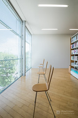 Interior of Nakamachi Terrace (なかまちテラス) (christinayan01) Tags: library architect building sanaa kazuyo sejima perspective chair interior tokyo