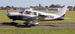 Piper PA-28-161 Cherokee Warrior II G-XENA Lee on Solent Airfield 2016 (SupaSmokey) Tags: piper pa28161 cherokee warrior ii gxena lee solent airfield 2016