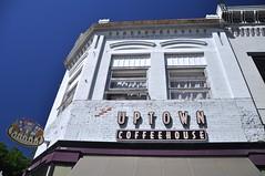 Uptown World (cmu chem prof) Tags: howell livingstoncounty michigan downtown uptowncoffeehouse oldcommercialblock circularpolarizer bluesky
