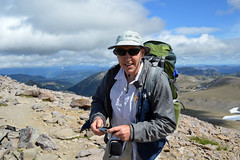 Dad at the Top (Sotosoroto) Tags: dayhike hiking mtrainier burroughsmountain washington cascades mountains
