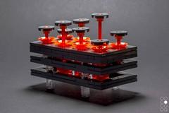 Drift Apart [levitation] (Cole Blaq) Tags: brickart coleblaq enterthebrick lego legoart abstract art blacklight levitation
