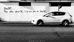 Liberty story (photoshot1993) Tags: sony alpha 65 sigma 17 50 f28 street tag philosophy pessac car white black blanc et noir voiture rue art