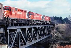 CP 5012                      10-77 (C E Turley) Tags: trains railways railroads cp gp35 brownvillejct