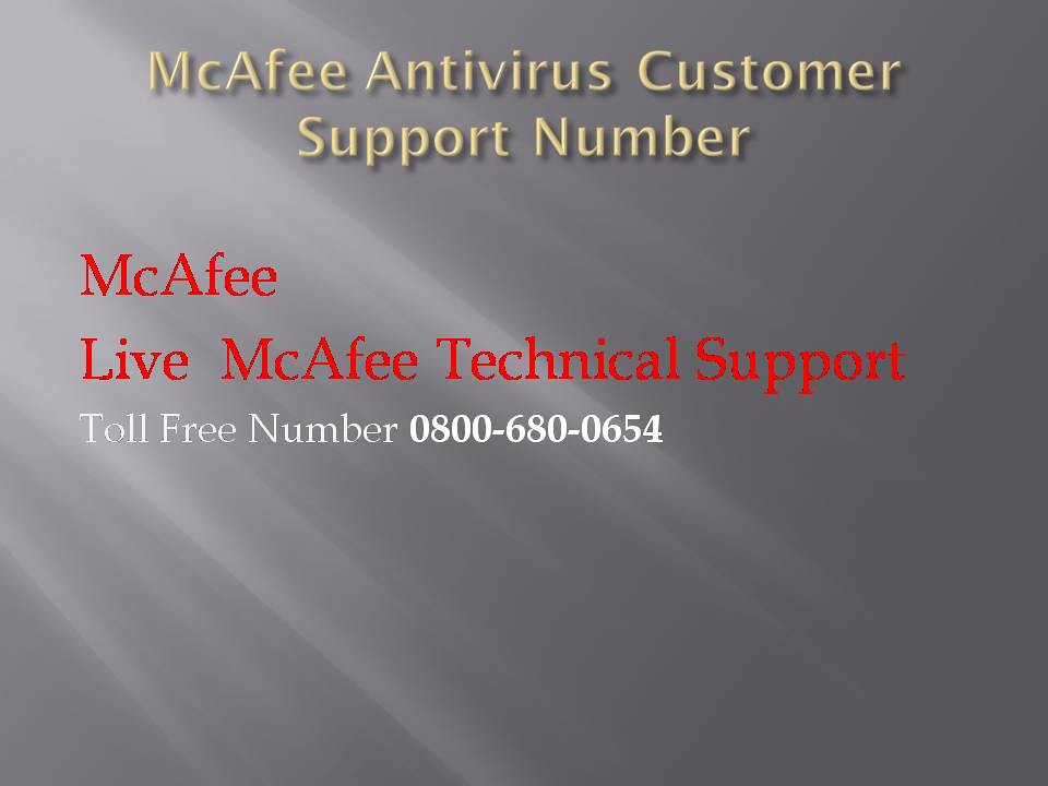 Www mcafeehelp com customer support