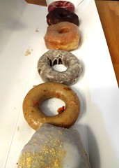 Doughnuts from Cartems (Ruth and Dave) Tags: doughnuts box donuts cartems sweet food treat dessert keylime earlgrey chocolateglazed vanilla