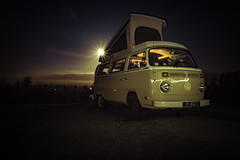 nightbus (a.lee.miller) Tags: ifttt 500px vw t2 campervan westphalia vintage holiday touring nightime moon lightpainting bus bulli volkswagen retro mood moonscape nature camping campsite night