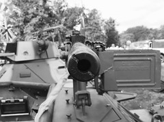 Browning 30 CAL (Hammerhead27) Tags: war weapon 30cal 30calibre browning pointing thornfalcon somerset henlade box belt rounds bullets bw blackandwhite barrel machinegun military show army vehicle armoured ferretscoutcar