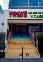 Fred's, Main Street, Huntington Beach (toucanne) Tags: steps restauranmt marches paint menu california californie street rue