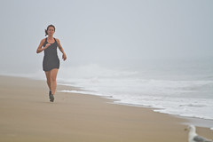 Running on the beach in Bethany Beach, Delaware. (runvmc) Tags: crashing de delaware early exercise jogging morning ocean oneperson onewoman photoshoot photograph photography running runvmc sand summer sun sunrise surf vincemcamiolo vincent water waves woman bethanybeach unitedstates