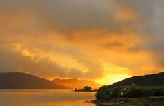 Solnedgang i Forsand juni -16 (bjarne.stokke) Tags: forsand hgsfjorden rogaland ryfylke norway norwegen norge skyer solnedgang