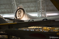 20160926-172420-5D3B5840 (zjernst) Tags: 2016 aerospace airforce airandspacemuseum aircraft airplane armyaircorps atomicbomb b29 boeing bomber empennage enolagay hangar museum plane rivets silver smithsonian superfortress tail udvarhazy wwii worldwarii