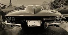 2 for the Road (Jon Scherff) Tags: corvette 1963corvette stingray splitwindow sportscar musclecar nikond810 nikon1424mmf28afs sepia wideangle