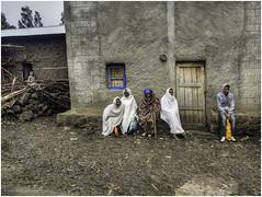 Cold evening (Luc V. de Zeeuw) Tags: blanket cold door ethiopia house man stones window wood northwello amhara