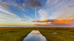 Sunset Clouds (nicklucas2) Tags: newforest nature landscape grass sunset milkham cloud reflection puddle