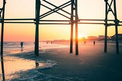 Seasons (Wes Hicks) Tags: beach sunset ocean pier surf sand dusk evening goldenhour