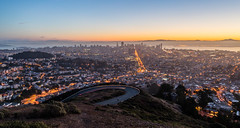 San Francisco from Twin Peaks | San Francisco, CA (goudreault.v) Tags: sf san francisco downtown twin peaks tourism california sunrise light trail