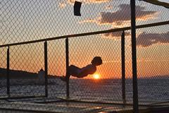 Jumping (loj5407) Tags: summer play pier summertime teen young water jumping child boy active action seaview seasunsetview sky sunsetsky sun sunset seasunsetbackground horizon evening beach coast