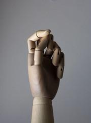 wooden hand too (Gorana Guiboud-Ribaud) Tags: lichtundschatten licht light schatten shadow photoart wooden hand woodenhand sculpture