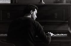 Momento de inspiracin (josejuanpantoja) Tags: piano music blackandwhite bw inspiration musician portrait msico man naturallight
