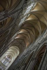Sous la nef d'Amiens (clubphotobougival) Tags: cathdrale nef hauteur ogives voute piliers pierre vitrail lumire choeur choir stone pilar arche