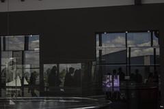Shadows. (MaiconTe.) Tags: shadow black contraste silueta espejo reflejo cristal reflaction window sky people violeta sombra gente edificio building move mirror