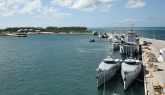 Nine ships from the Royal Bahamas Defence Force, research vessel Walton Smith and a contract vessel take shelter at Naval Air Station Key Wests Mole Pier. (Official U.S. Navy Imagery) Tags: hurricanematthew storm gtmo meteorology weather shelter evacuation navy usnavy keywesy fla unitedstates