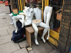 The Body Shop (My photos live here) Tags: mannequins models body parts plastic legs torso shop caledonian road london capital city camden i phone 5s pavement breasts