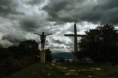 Day of reckoning (Alexis Karnoutsos) Tags: clouds weather sky cross landscape lake prespes