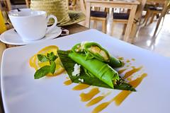 Banana in pandan crepe (A. Wee) Tags: sankara resort hotel  ubud bali  indonesia  banana crepe