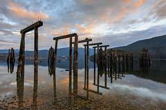 Pillars of History (erwin.delfin_photography) Tags: oldpier pillars history barnetmarinepark sunrise reflections seascape landscape