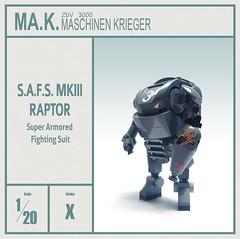 S.A.F.S. Raptor - Ma.Ktober 2016 (Brixnspace) Tags: maktober mak maschinenkrieger maschinen krieger safs raptor